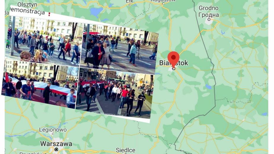 Białystok: Marsz przeciwników obostrzeń. Zatrzymano jedną osobę