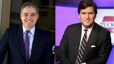 CNN's Jim Acosta calls Tucker Carlson a 'human-manure spreader' for his 'race-baiting' attacks on Afghan refugees