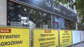 Teatr Żydowski zagrał w plenerze, a właściciel budynku zapieczętował wejście