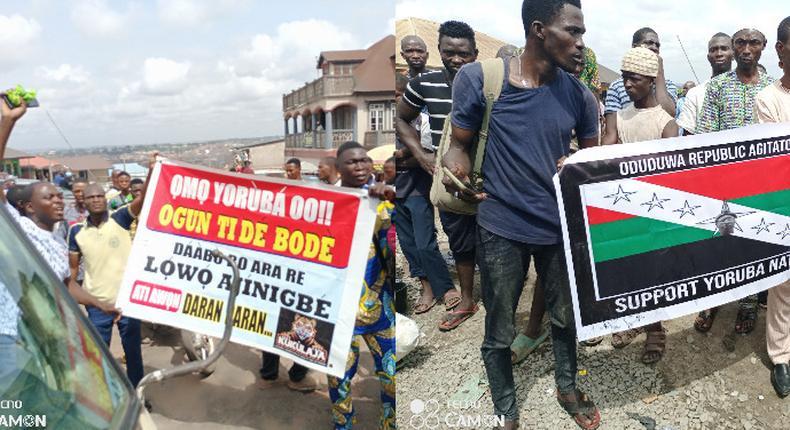 Police take over venue of Yoruba self-determination rally in Ibadan. (Punch)