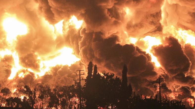 Pożar w rafinerii Balongan