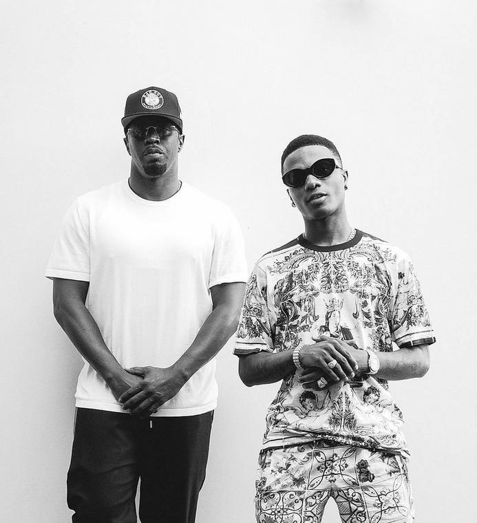 Wizkid poses with Hip-hop mogul P Diddy [Instagram/Wizkid]