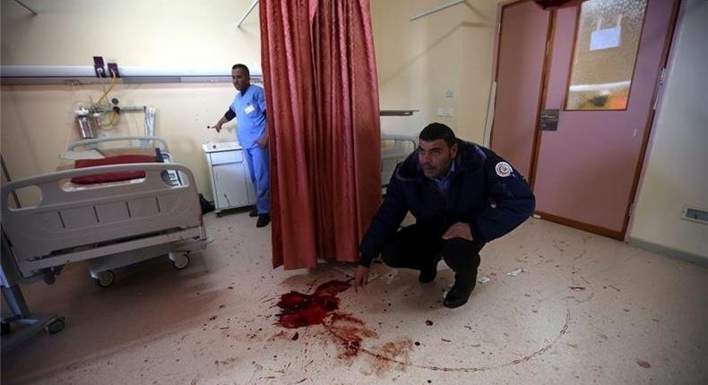 Israeli forces shot Abdullah al-Shalaldeh multiple times in the process of arresting his cousin Azzam at a Hebron hospital