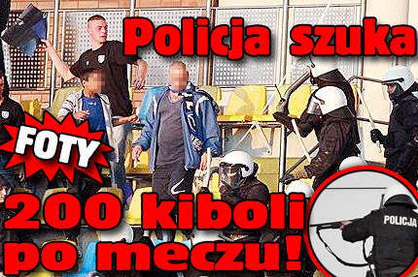 Policja szuka 200 kiboli po meczu!