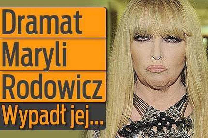 Dramat Maryli Rodowicz: Wypadł jej...