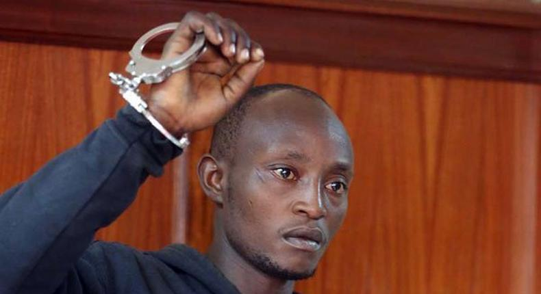 Boniface Murage Wangechi in the dock at a Milimani court