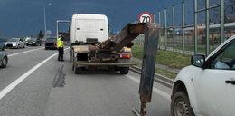 Beczkowóz uszkodził kolejowy wiadukt