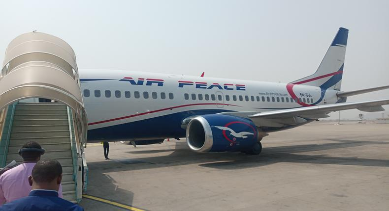 Illustrative Photo: Air Peace offers free flight to Nigerians in South Africa. (Shipsandports)