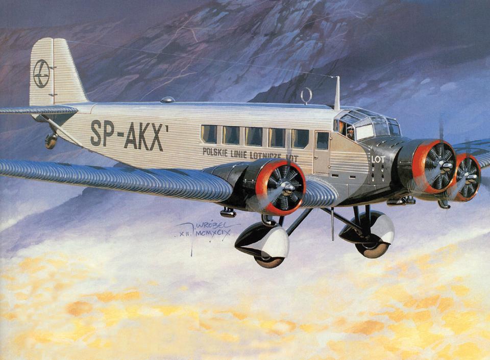 Junkers Ju-52 na pokład zabierał maksymalnie 15 pasażerów