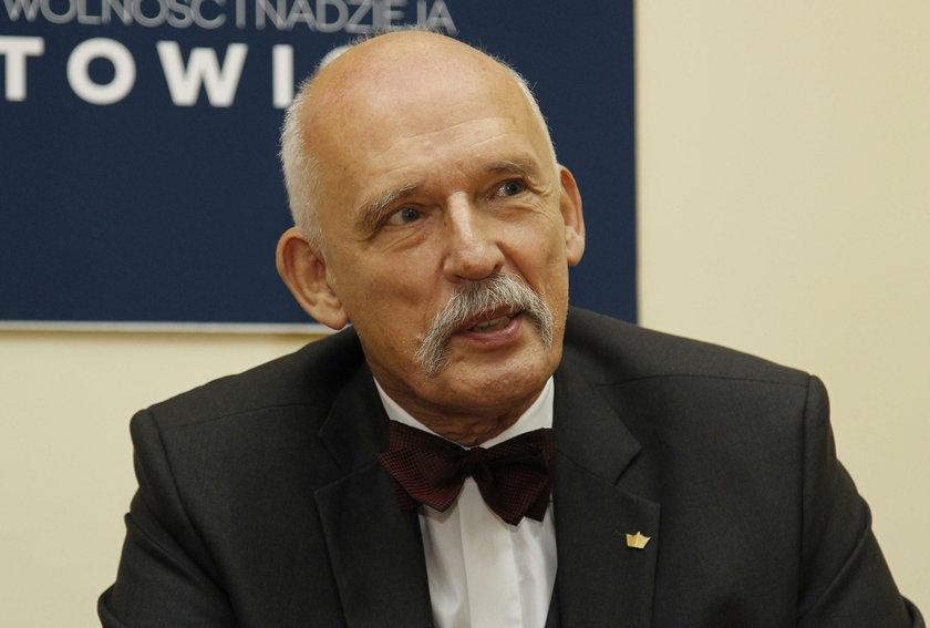 Janusz Korwin-Mikke znowu szokuje