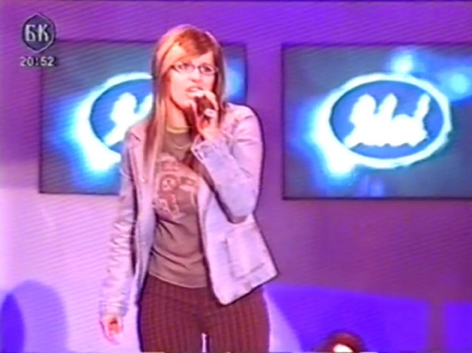 """Cveta Majtanović u takmičenju """"Idol"""" 2004. godine"""