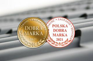 Blachotrapez z tytułem Dobra Marka 2021  oraz Polska Dobra Marka 2021