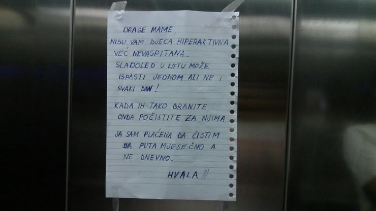 Poruka iz lifta Banjaluka