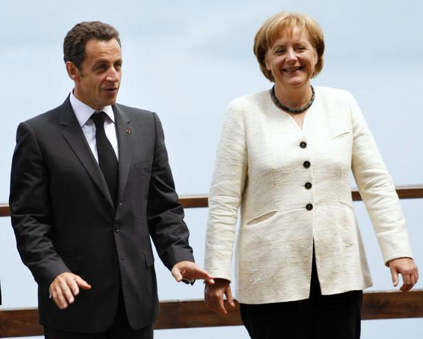 Nicolas Sarkozy i Angela Merkel.