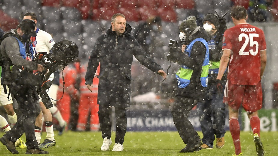 Hansi Flick po meczu Bayern - PSG