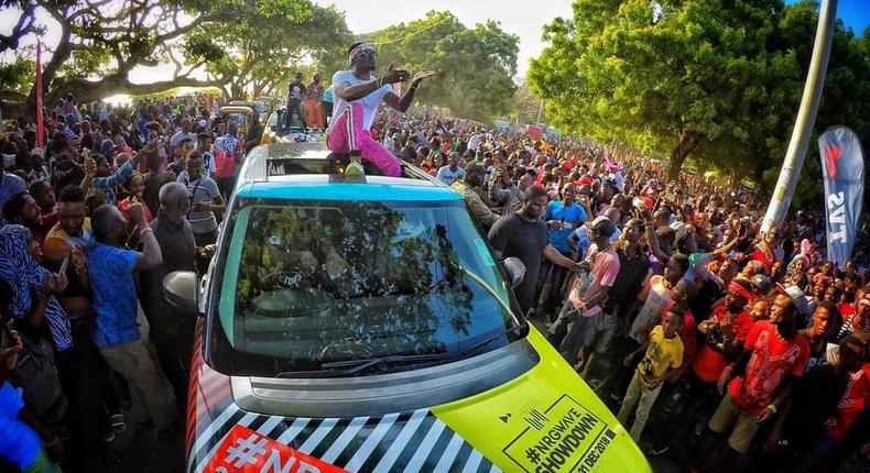 Diamond in Mombasa in his wcb crew (Instagram)