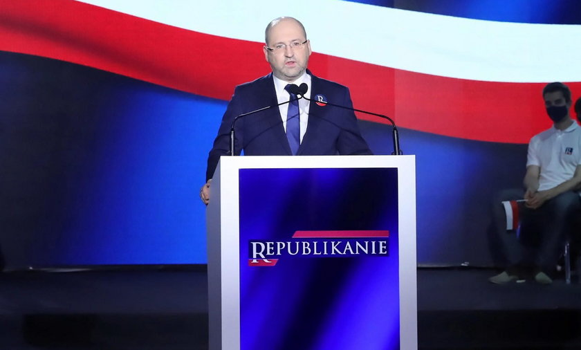 Adam Bielan na konwencji Partii Republikańskiej