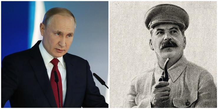 Vladimir Putin i Josif Staljin kombo