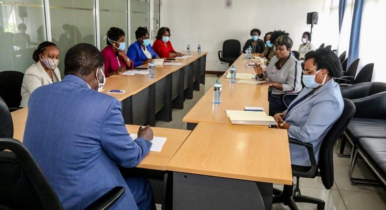 Details of Raila Odinga's meeting with these 8 women leaders at Capitol Hill
