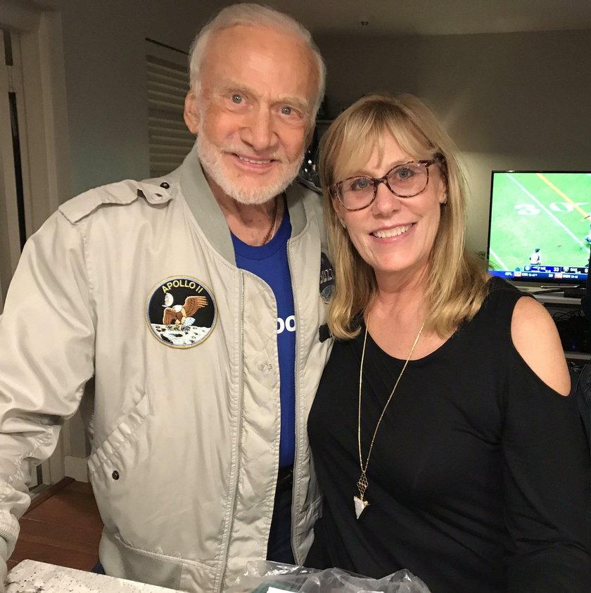 Buzz Aldrin z córką