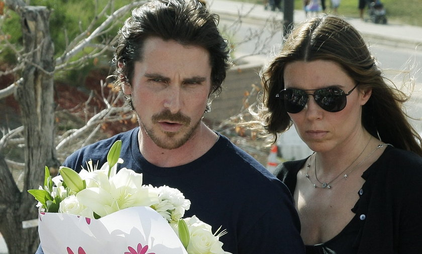 Christian Bale na miejscu strzelaniny