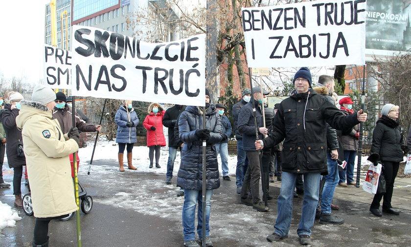 Protest mieszkańców Woli