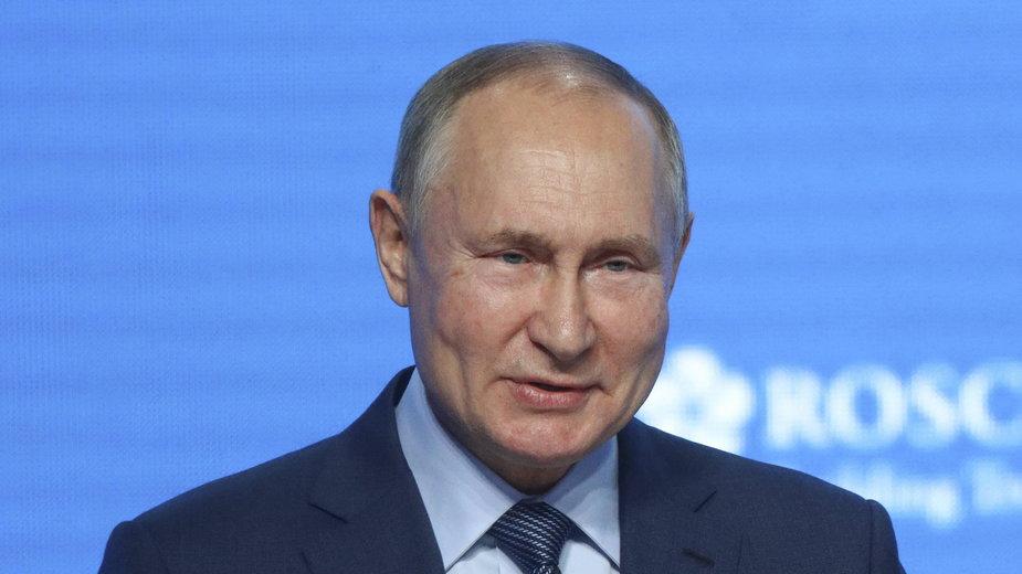 Prezydent Rosji Władimir Putin na konferencji prasowej