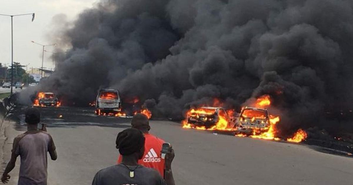 Tanker explosion kills 2 on Lagos-Abeokuta expressway - Pulse Nigeria