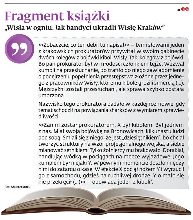 """Fragment książki """"Wisła w ogniu. Jak bandyci ukradli Wisłę Kraków"""""""