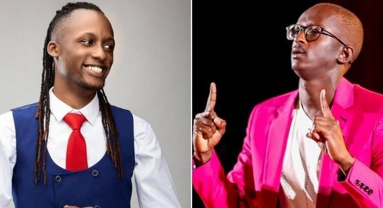 Twitter influencer Xtian Dela and online comedian Njugush