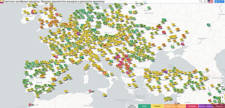 Balkan u crvenoj zoni