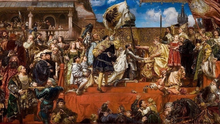Hołd pruski, obraz Jana Matejki