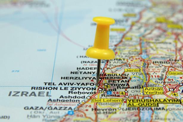 Izrael na mapie