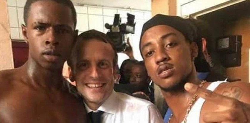 Macron odwiedził wyspę Saint-Martin. Uwagę przykuł jeden szczegół