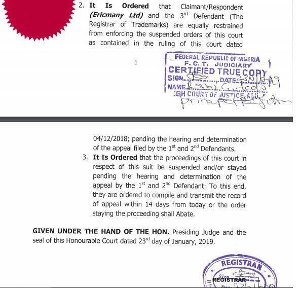The judgement delievered by a Federal High Court in Abuja [Linda Ikeji]