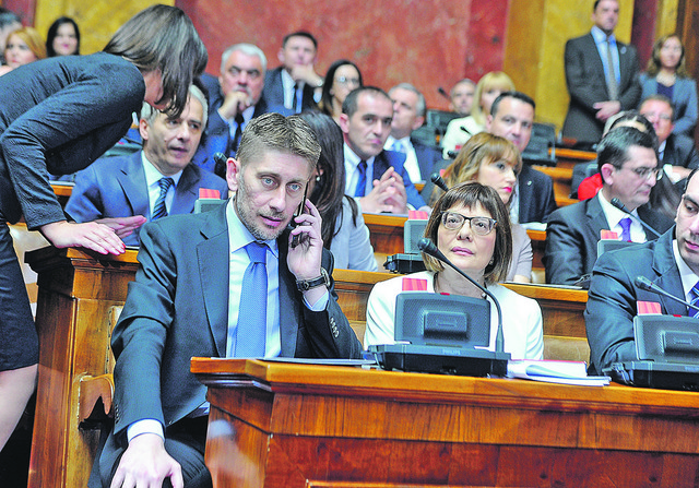 Obrukao parlament: Aleksandar Martinović u Skupštini Srbije