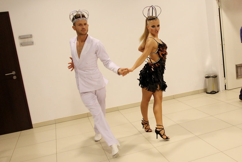 Matusz Banasiuk i Agnieszka Kaczorowska trenują przed występem