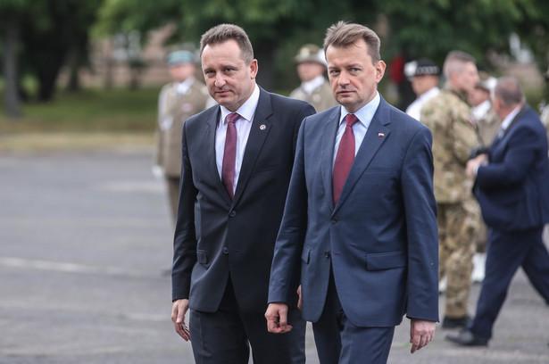 Szef Biura Ochrony Rządu nadinspektor Tomasz Miłkowski i minister spraw wewnętrznych i administracji Mariusz Błaszczak