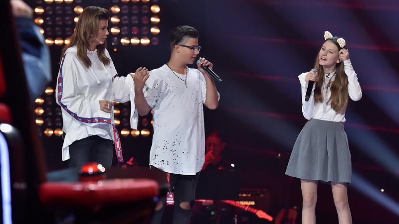 """The Voice Kids"" - Michalina Włodarczyk i Allan Krupa"