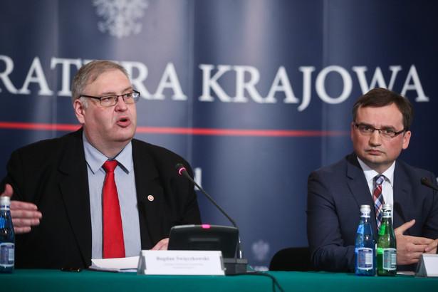 Minister sprawiedliwości prokurator generalny Zbigniew Ziobro oraz prokurator krajowy Bogdan Święczkowski