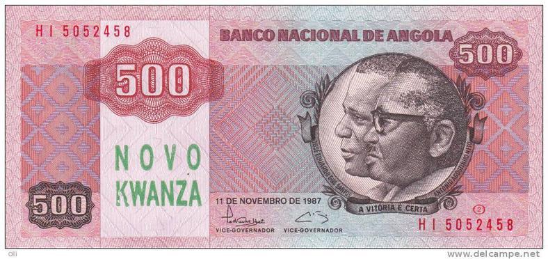 Angolan 500 Kwanza note