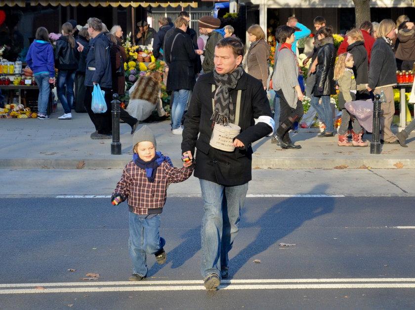 Tomasz Jachimek z synem
