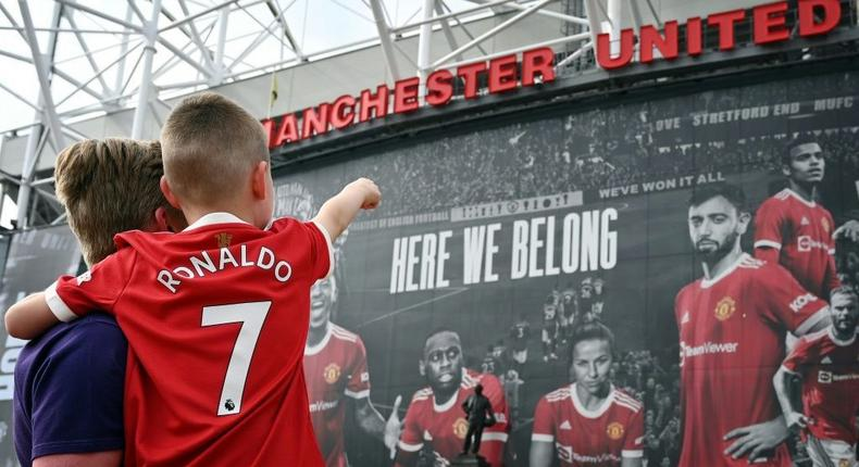 Fans have already flocked to Old Trafford to buy Manchester United shirts bearing Cristiano Ronaldo's name