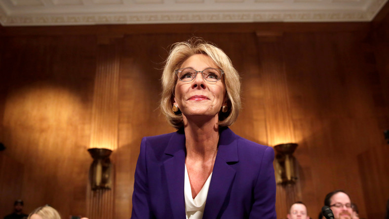 Betsy DeVos' confirmation was almost rejected by the Senate.