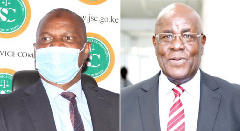 Justices Said Chitembwe and Aggrey Muchelule