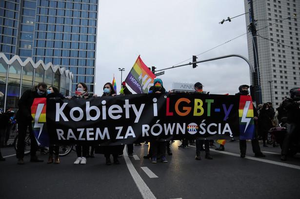Strajk Kobiet w Warszawie 28 listopada 2020 r