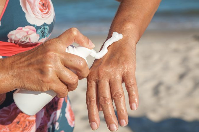 Moisturising and wearing SPF helps prevent sun damage to your knuckles and ensures that they do not become dry and damaged