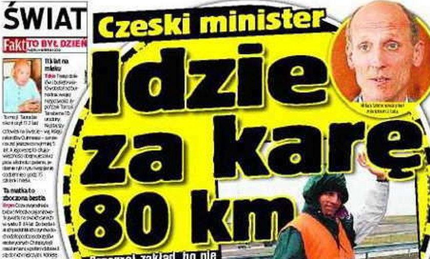 Idzie za karę 82 km!