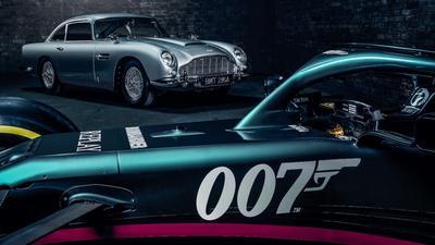 Tak powinien jeździć agent 007? Vettel i Stroll zamienili bolidy na bondowskiego Astona