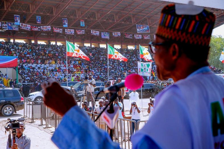 Buhari has been packing full stadiums across Nigeria (Presidency)